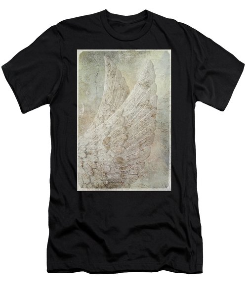 On Angels Wings Men's T-Shirt (Athletic Fit)