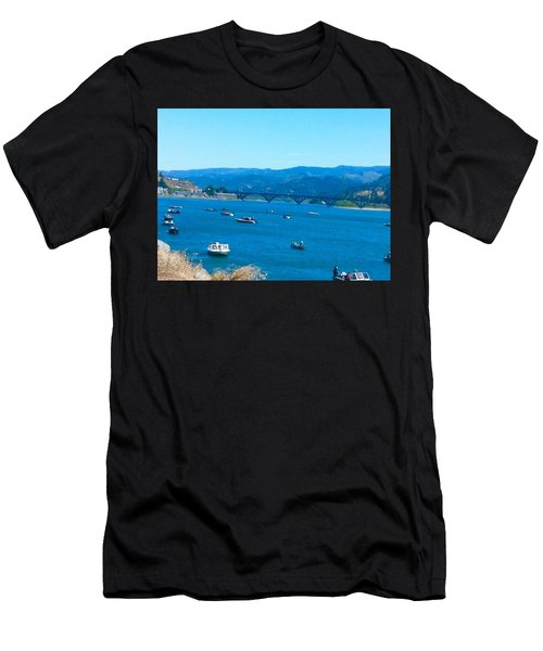 On Board For Fun  Men's T-Shirt (Athletic Fit)