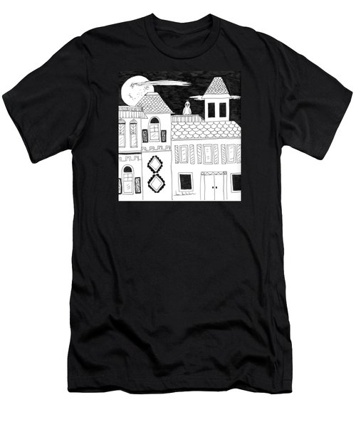 Men's T-Shirt (Slim Fit) featuring the painting On Duty by Lou Belcher