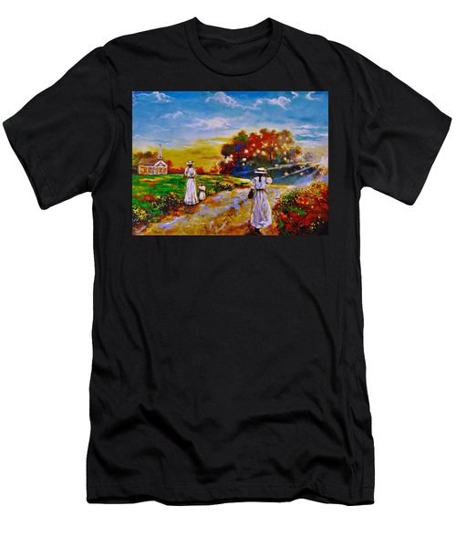 On My Way Home Men's T-Shirt (Athletic Fit)