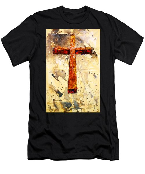 On That Old Rugged Cross Men's T-Shirt (Athletic Fit)
