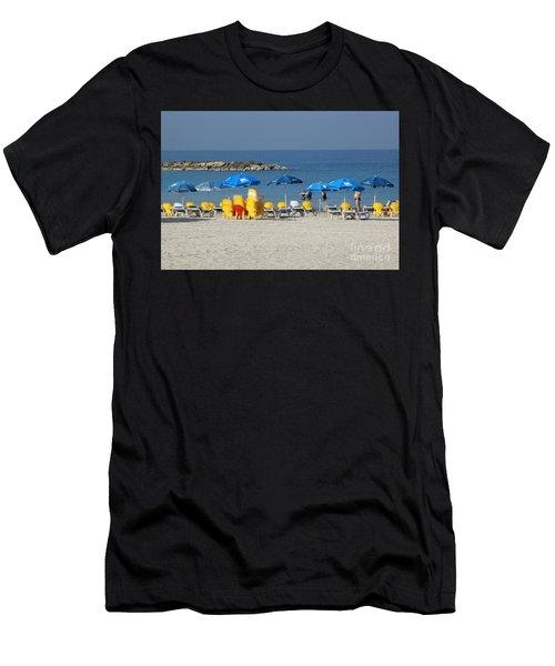 On The Beach-tel Aviv Men's T-Shirt (Athletic Fit)