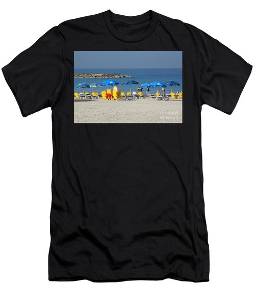 On The Beach-tel Aviv Men's T-Shirt (Athletic Fit)