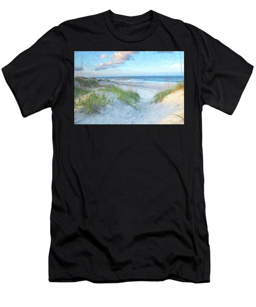 On The Beach Watercolor Men's T-Shirt (Athletic Fit)