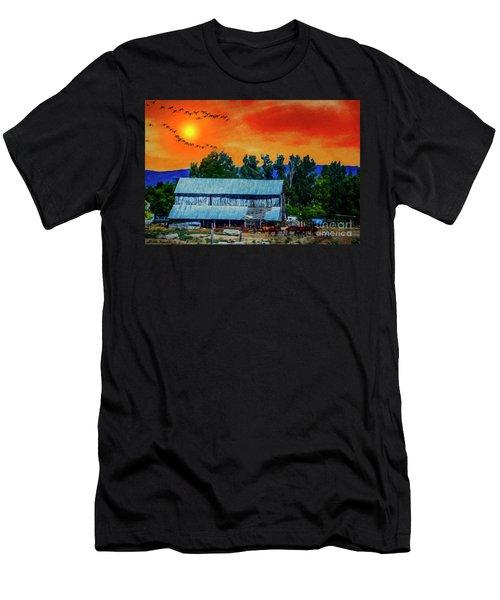 On The Farm II Men's T-Shirt (Slim Fit) by Billie-Jo Miller
