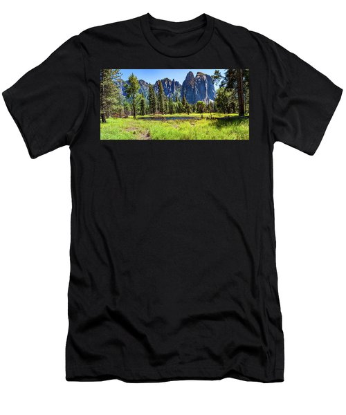 On The Floor Of Yosemite Men's T-Shirt (Athletic Fit)