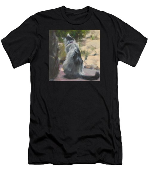 On The Threshold Men's T-Shirt (Slim Fit) by Connie Schaertl
