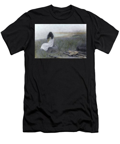 Men's T-Shirt (Athletic Fit) featuring the photograph On The Vineyard by Wayne King