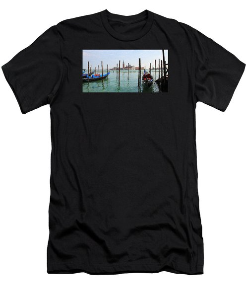 Men's T-Shirt (Athletic Fit) featuring the digital art On The Waterfront by Julian Perry