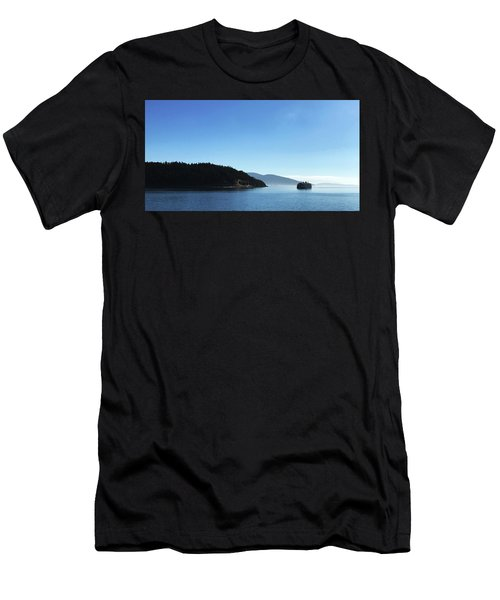 Men's T-Shirt (Athletic Fit) featuring the photograph On The Way To Orcas by Lorraine Devon Wilke