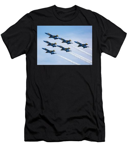 On Wings Like Eagles Men's T-Shirt (Athletic Fit)
