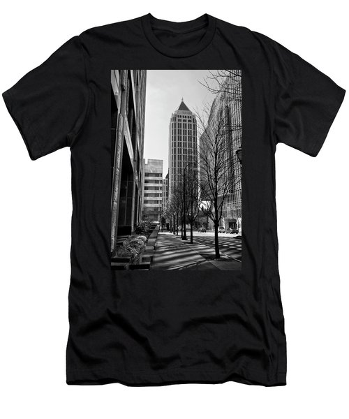 One Atlantic Center In Black And White Men's T-Shirt (Athletic Fit)