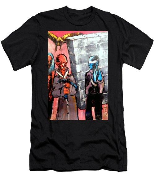 One Bird In Flight - One Bird In Hand Men's T-Shirt (Slim Fit) by Kenneth Agnello