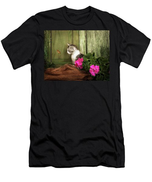 One Cute Kitten Waiting At The Door Men's T-Shirt (Athletic Fit)