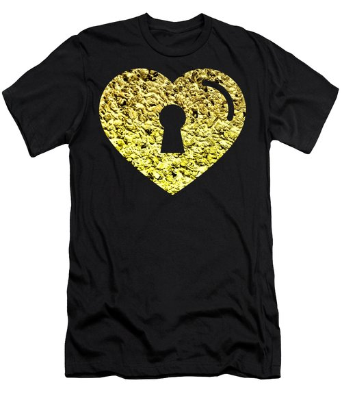 One Heart One Key 2 Men's T-Shirt (Athletic Fit)