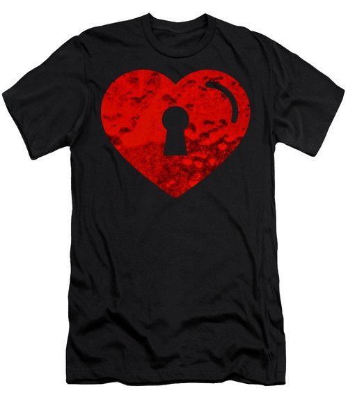 One Heart One Key Men's T-Shirt (Athletic Fit)