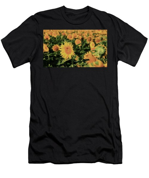 Men's T-Shirt (Slim Fit) featuring the photograph One In A Million Sunflowers by Chris Berry