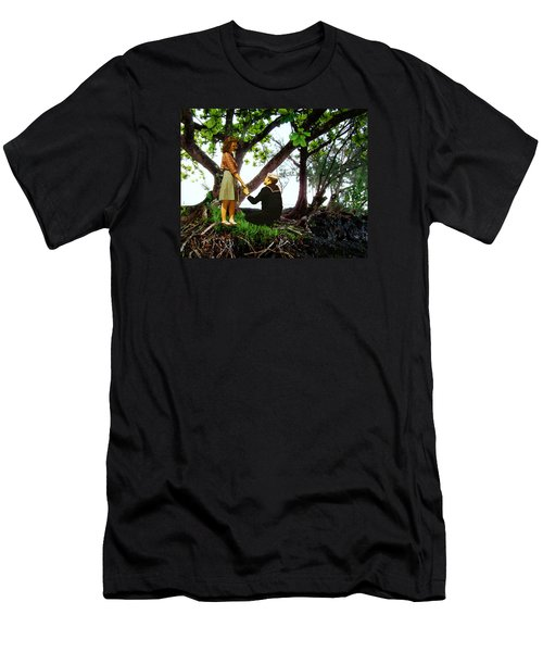 One Moment In Paradise Men's T-Shirt (Athletic Fit)
