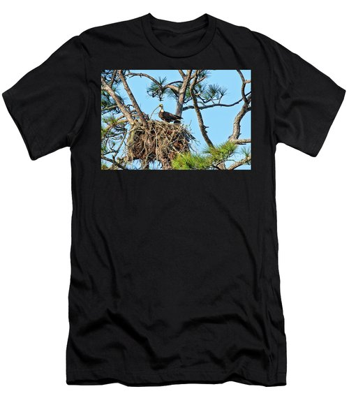 Men's T-Shirt (Slim Fit) featuring the photograph One More Twig by Deborah Benoit