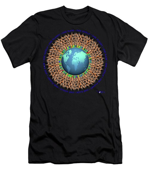 One Planet. One Race. One World.  Men's T-Shirt (Athletic Fit)