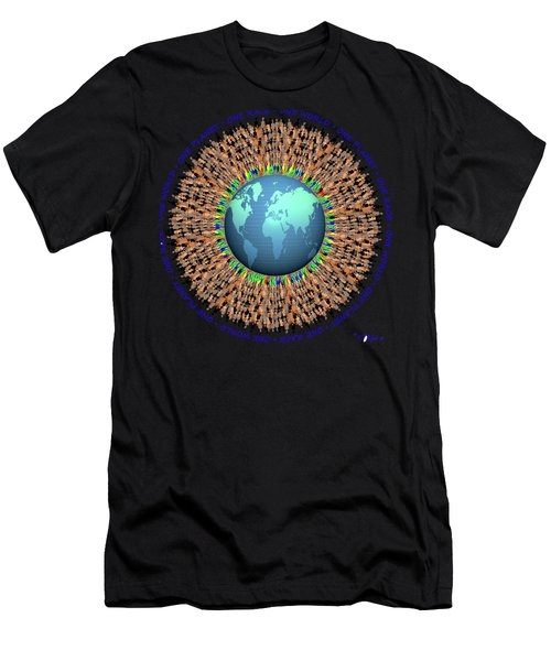 One Planet. One Race. One World. 1 Men's T-Shirt (Athletic Fit)