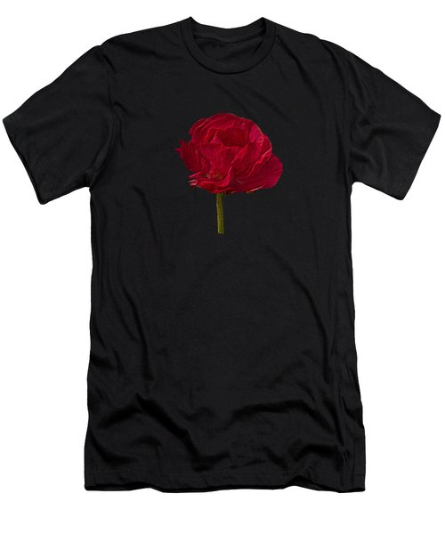 One Red Flower Tee Shirt Men's T-Shirt (Athletic Fit)