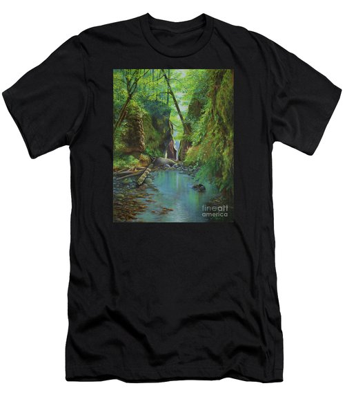 Oneonta Gorge Men's T-Shirt (Slim Fit) by Jeanette French