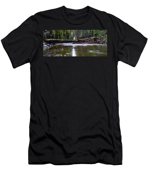 Men's T-Shirt (Slim Fit) featuring the photograph Oneonta Pano by Jonathan Davison