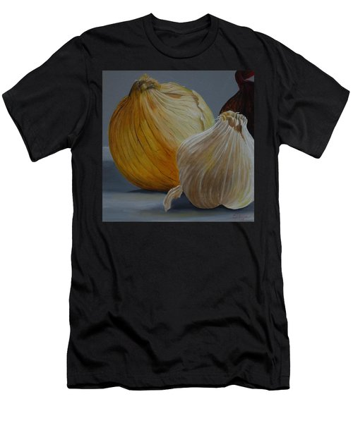 Onions And Garlic Men's T-Shirt (Athletic Fit)