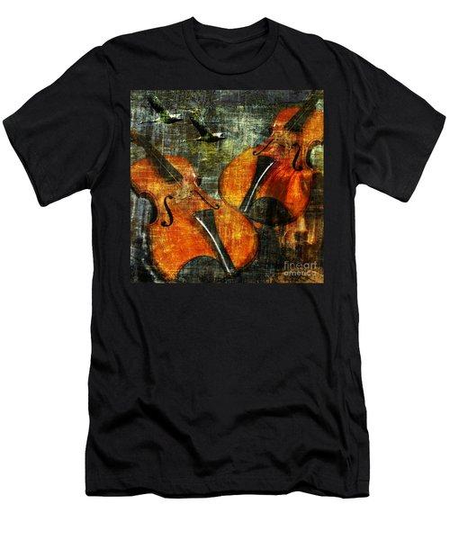 Only Music Heals A Broken Heart Men's T-Shirt (Athletic Fit)