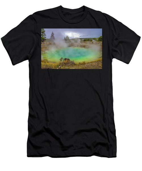 Opal Spring Yellowstone National Park Men's T-Shirt (Athletic Fit)