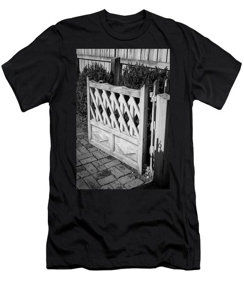 Open Garden Gate B W Men's T-Shirt (Athletic Fit)