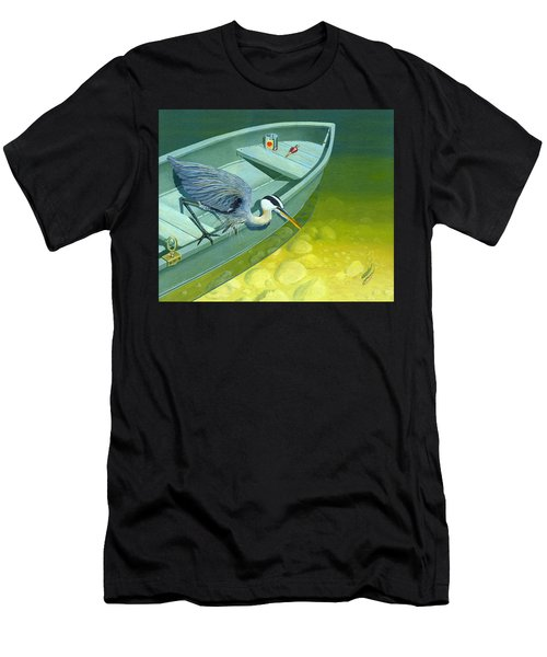 Opportunity-the Great Blue Heron Men's T-Shirt (Athletic Fit)