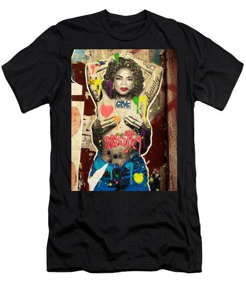 Oprah Winfrey Graffiti In New York  Men's T-Shirt (Athletic Fit)