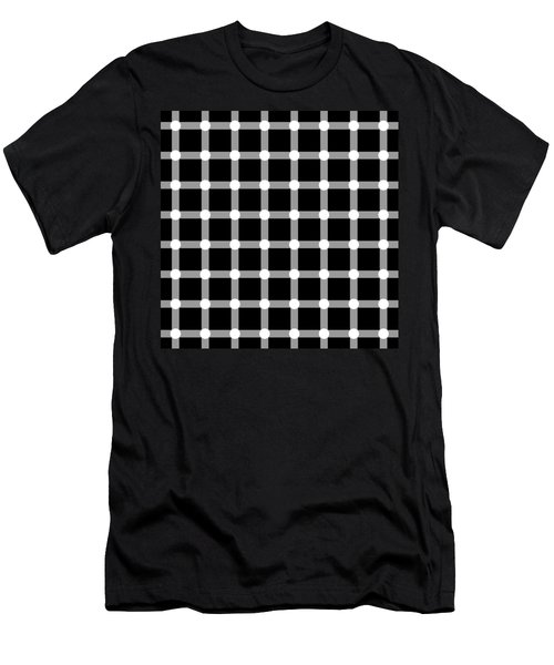 Optical Illusion The Grid Men's T-Shirt (Athletic Fit)