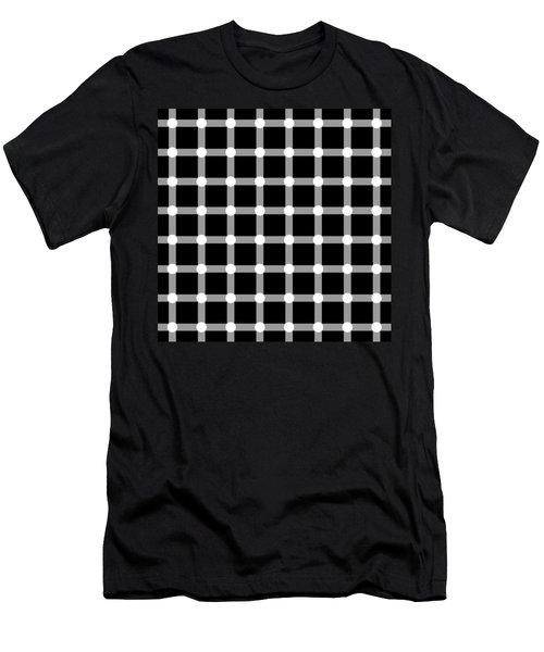 Optical Illusion The Grid Men's T-Shirt (Slim Fit) by Sumit Mehndiratta