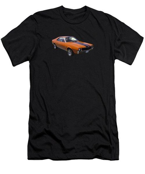 Orange 1969 Amc Javlin Car Men's T-Shirt (Athletic Fit)