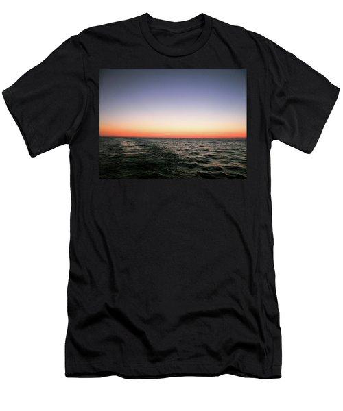 Orange And Black Men's T-Shirt (Athletic Fit)