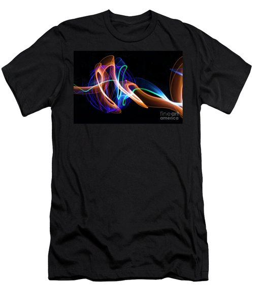 Orange And Blue Orb Men's T-Shirt (Athletic Fit)