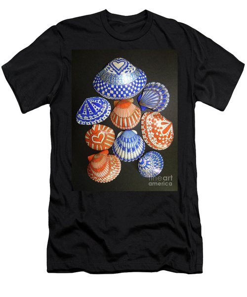 Orange And Blue Sharpie Shells Men's T-Shirt (Athletic Fit)