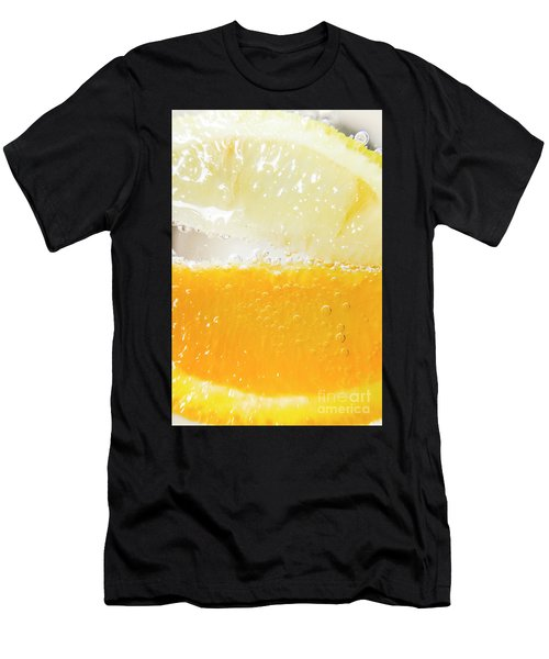 Orange And Lemon In Cocktail Glass Men's T-Shirt (Athletic Fit)