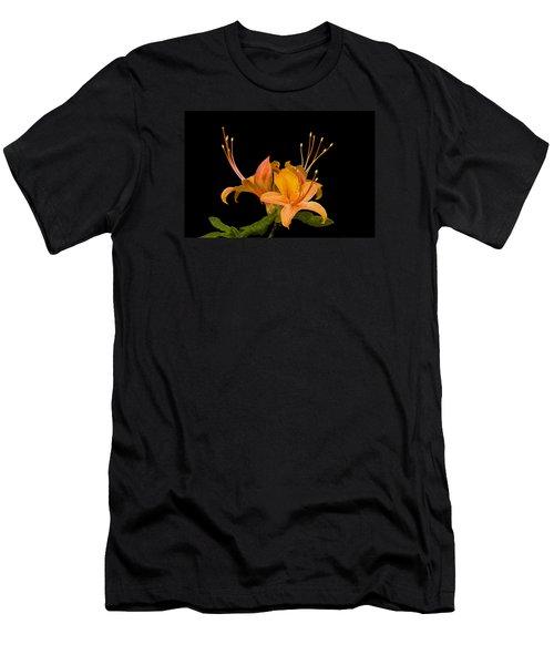 Men's T-Shirt (Athletic Fit) featuring the photograph Orange Azalea Rhododendron by Ken Barrett