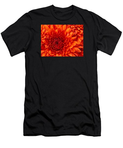Orange Bloom Men's T-Shirt (Athletic Fit)