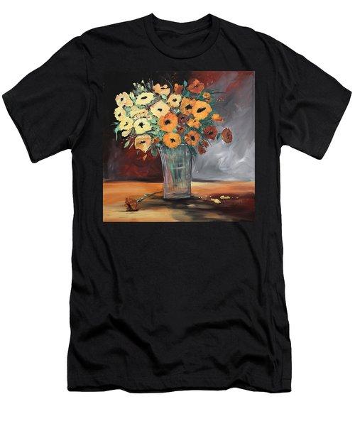 Orange Blossoms Men's T-Shirt (Slim Fit) by Terri Einer