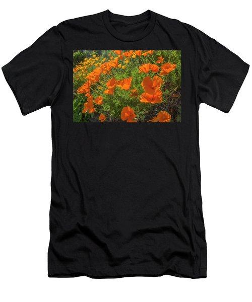 Orange Burst Men's T-Shirt (Athletic Fit)
