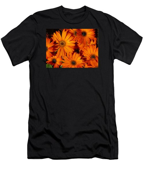 Orange Burst Men's T-Shirt (Athletic Fit)