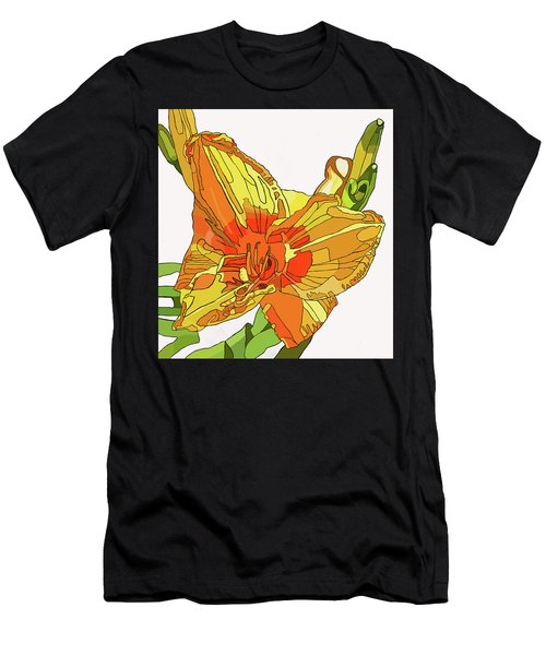 Orange Canna Lily Men's T-Shirt (Athletic Fit)