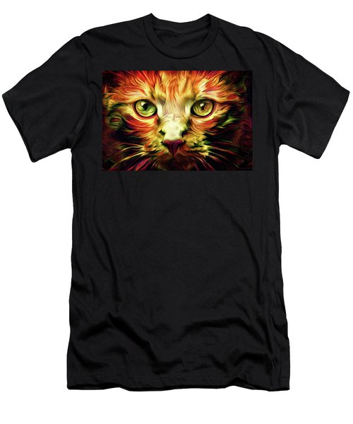 Orange Cat Art - Feed Me Men's T-Shirt (Athletic Fit)