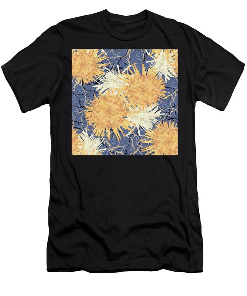 Orange Cobwebs Pattern Men's T-Shirt (Athletic Fit)
