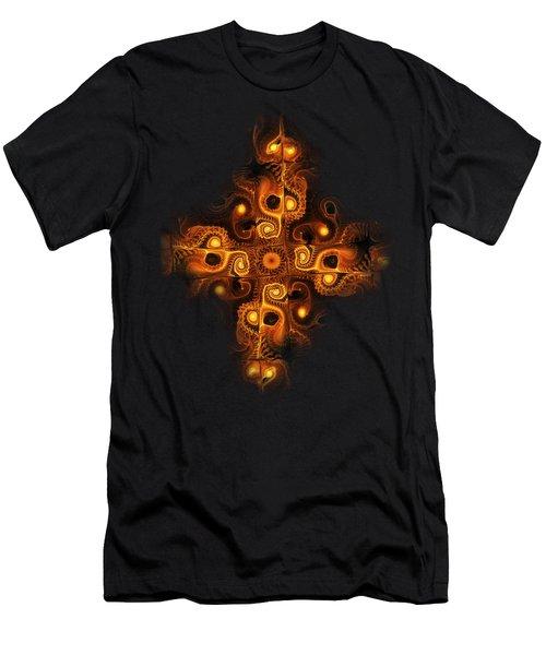 Orange Cross Men's T-Shirt (Athletic Fit)